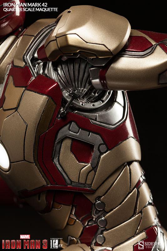 Mk Name Wallpaper Hd Iron Man Mark 42 Quarter Scale Maquette Geekalerts