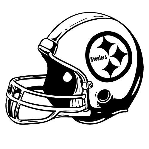Steelers helmet free coloring pages for Steelers football helmet coloring page