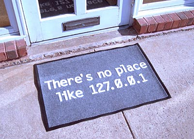 There's no place like 127.0.0.1 Door Mat