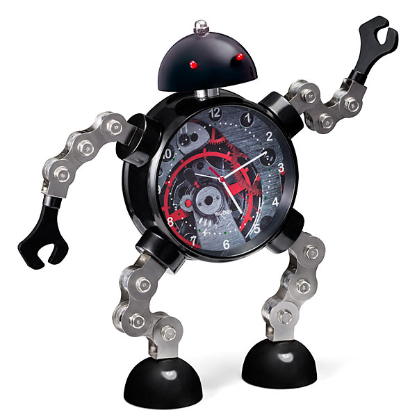 Giant Articulated Robot Clock from ThinkGeek