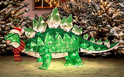 Animated Christmas Dinosaur- Geek Decor