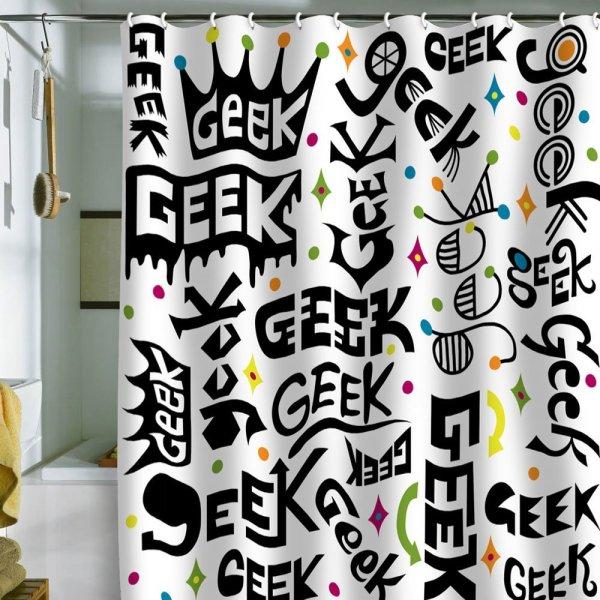 Geek Shower Curtain - Geek Decor