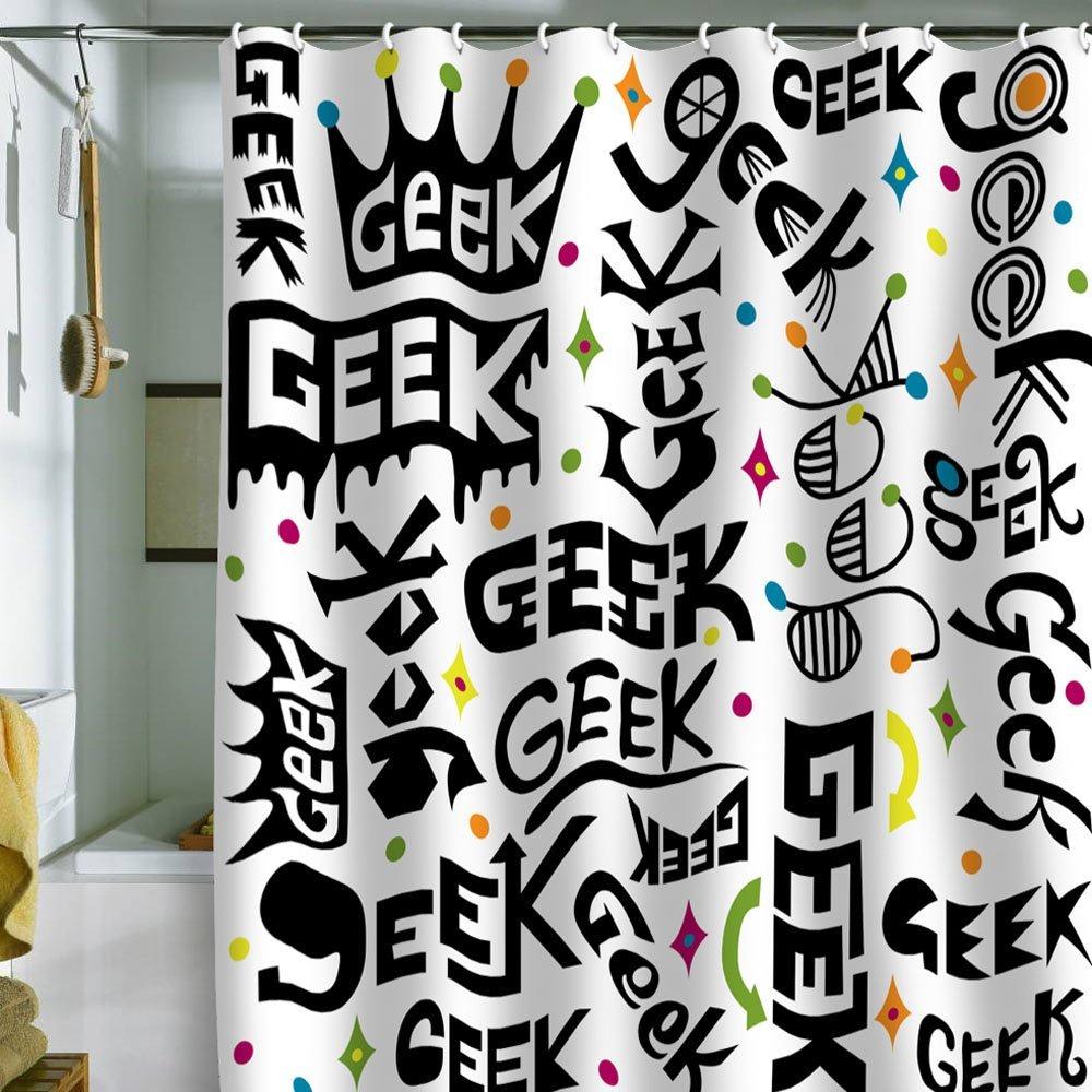 Geek Shower Curtain   Geek Decor