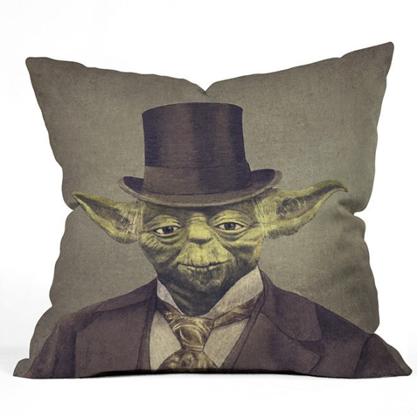 Sir Yoda Throw Pillow