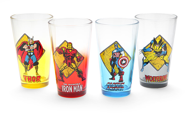 Marvel Avengers Pint Glass Set - Geek Decor