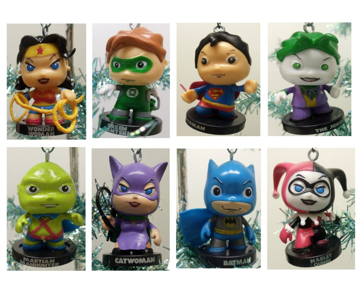 DC Comics Characters Christmas Ornaments