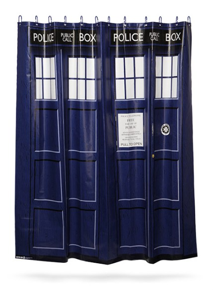 Doctor Who TARDIS shower curtain - Geek Decor