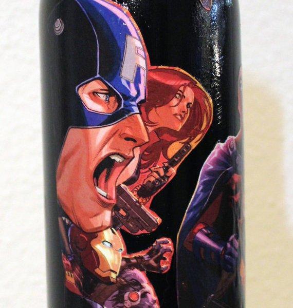 Marvel comic book wine bottles geek decor - Marvel comics decor ...