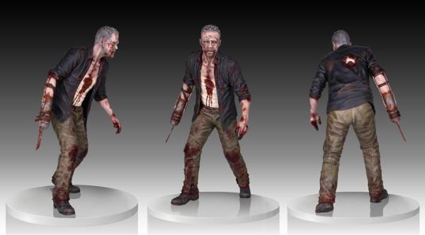 The Walking Dead Merle Dixon Walker Statue - Geek Decor