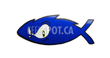 Geek Fish Car Magnet - Geek Decor