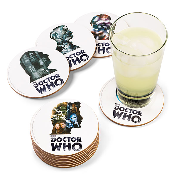 Doctor Who 12 Doctor Coaster Set - Geek Decor