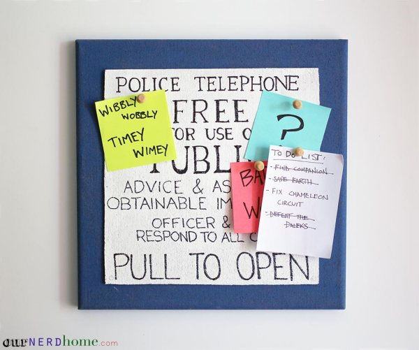 DIY TARDIS Cork Board - Geek Decor