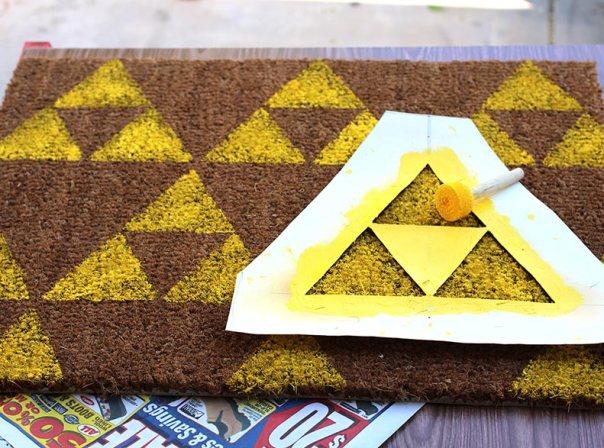 DIY Zelda Welcome Mat - Geek Decor
