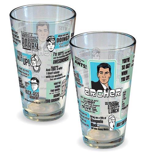 Archer Quotes Pint Glass - Geek Decor
