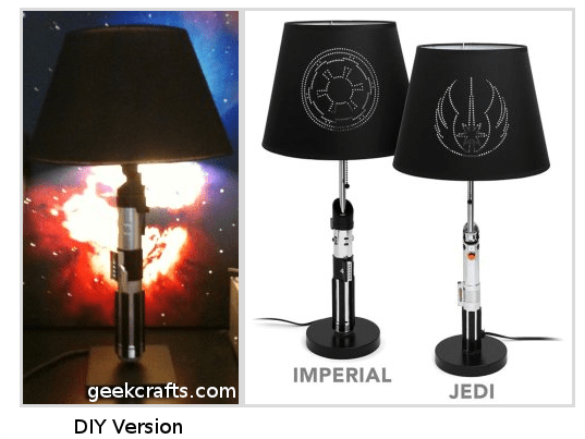 DIY Star Wars Lightsaber Lamp - Geek Decor