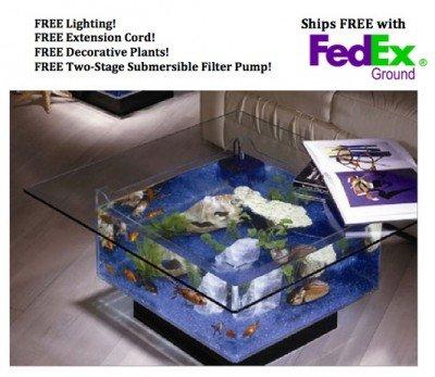 Aquarium Coffee Table!   Geek Decor