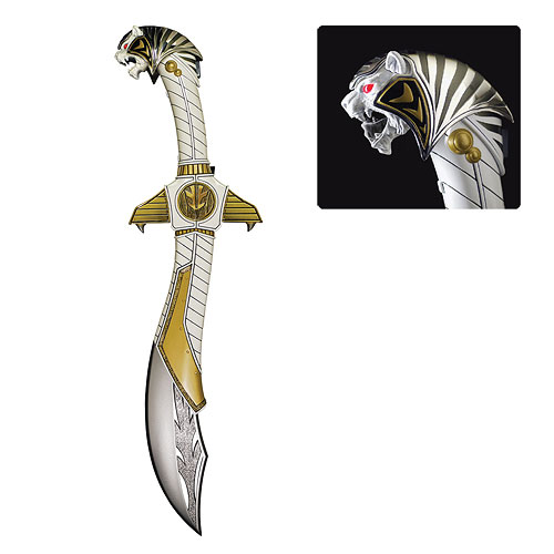 Mighty Morphin Power Rangers White Ranger Saba Sword - Geek Decor