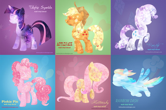 My Little Pony Wall Decals - Geek Decor
