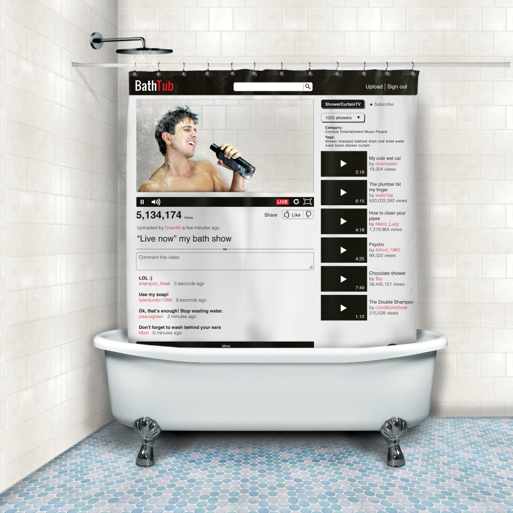 Superior Online Video Shower Curtain