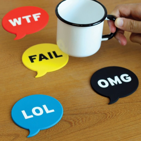 Chat Acronym Coasters - Geek Decor