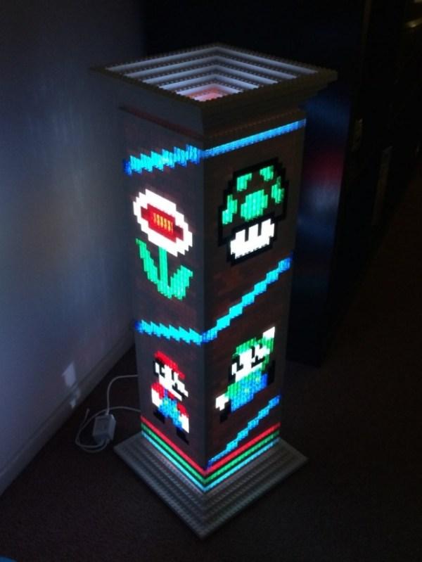 Mario Lego Lamp - Geek Decor
