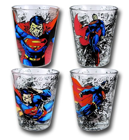 Superman Shot Glasses - Geek Decor