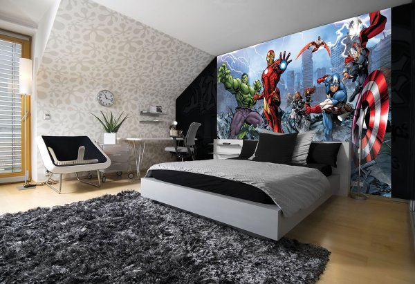 Avengers Comic Mural