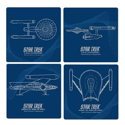 Star Trek Coasters   Geek Decor