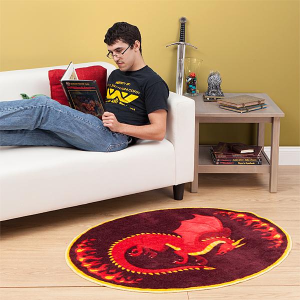 Legendary Dragon Rug In Use - Geek Decor