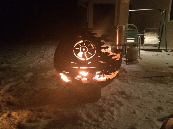 DIY Death Star Fire Pit For The Fearless, Crafty Types