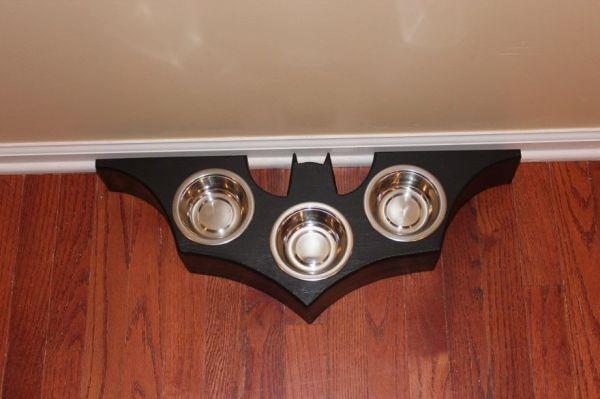 DIY Batman Pet Dish - Geek Decor