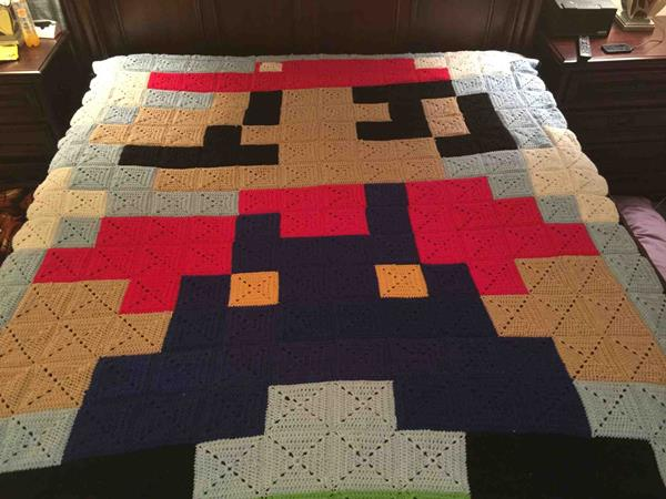 Super Mario Quilt - Geek Decor