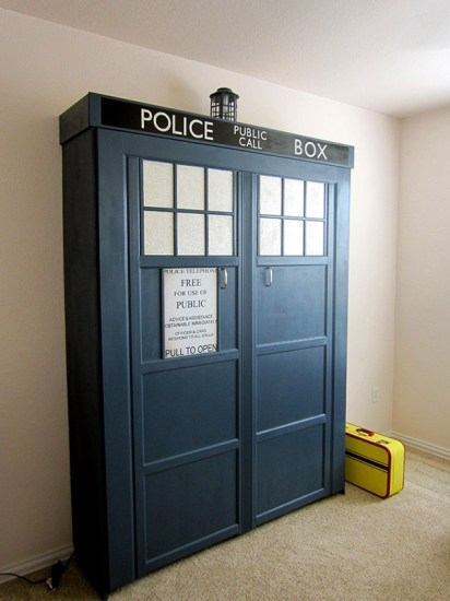 TARDIS Murphy Bed Finished - Geek Decor