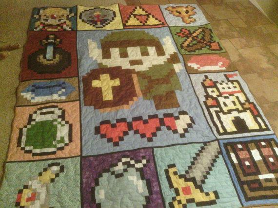 Zelda Quilt Link Version 2 - Geek Decor