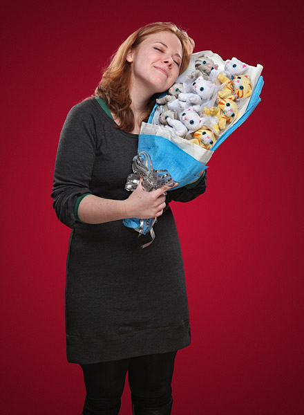 Plush Kitten Bouquet Being Enjoyed - Geek Decor