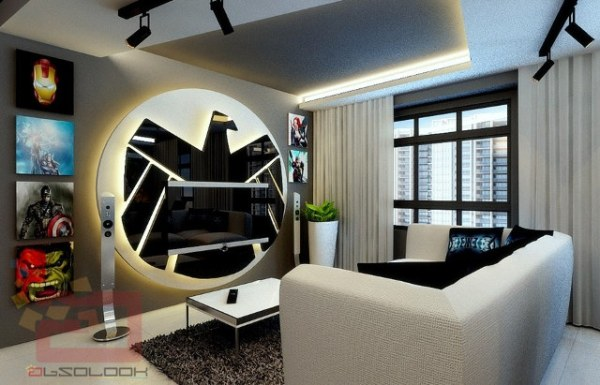 Avengers Apartment Living Room - Geek Decor