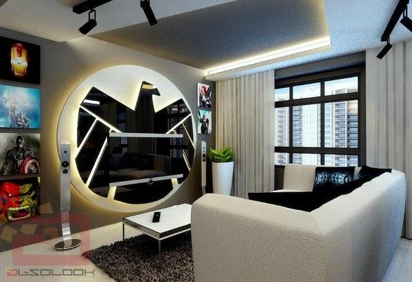 Decorating Ideas > Fancy Avengers Apartment!  Geek Decor ~ 033239_Nerdy Apartment Decorating Ideas
