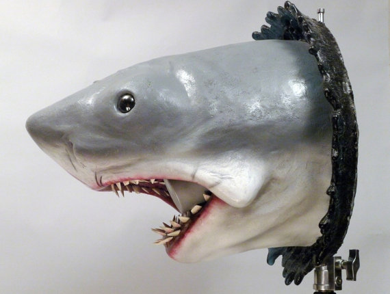 Bruce Jaws Bust Prop Side View - Geek Decor