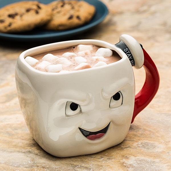Cute Coffee Mug Wallpaper Two Faced Stay Puft Marshmallow Man Mug Geek Decor