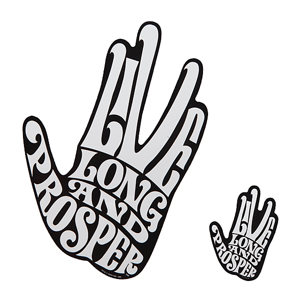 Live Long & Prosper Spock Car Decal - Large and Small - Geek Decor