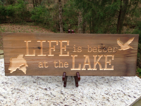 Wood By Hand, LLC. - Lake Life - Geek Decor