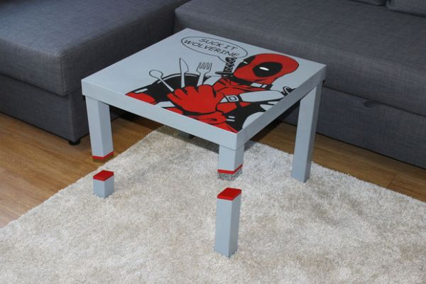DIY Deadpool Table -- Geek Decor
