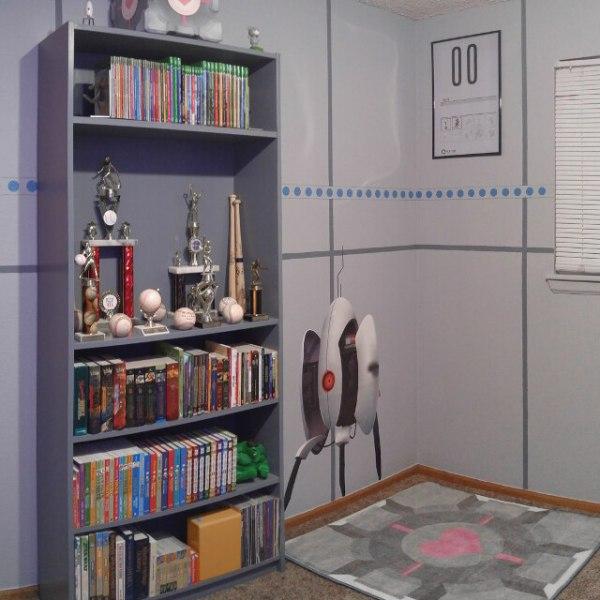 Portal Bedroom Turret Wall Decal - Geek Decor