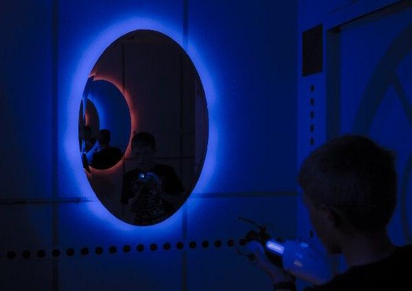 Portal Bedroom Blue Portal - Geek Decor