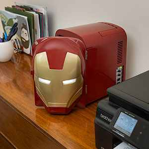Iron Man Mini Fridge Staredown -- Geek Decor