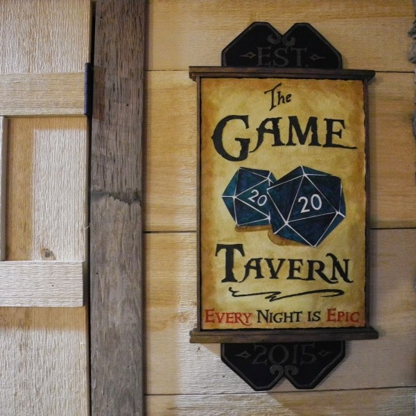 Game Tavern Handcrafted Sign - Geek Decor