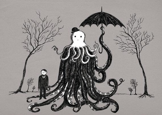 H.P. Lovecraft Art Print - Geek Decor