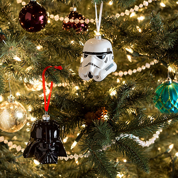 Darth Vader and Storm Trooper Blown Glass Ornaments -- Geek Decor