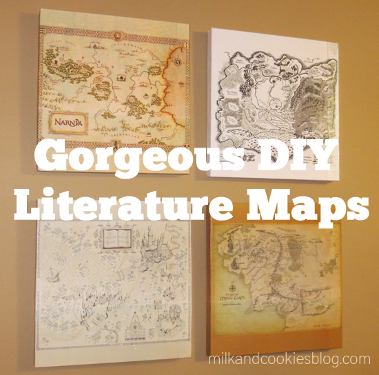 DIY Literature Maps - Geek Decor