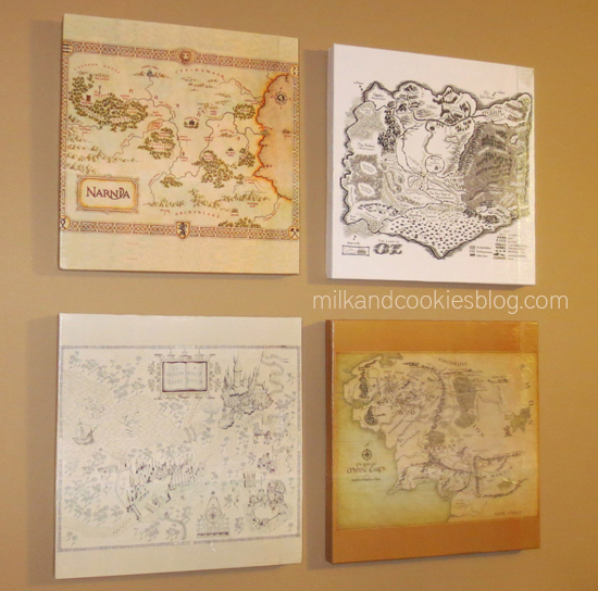DIY Literature Maps Finished - Geek Decor